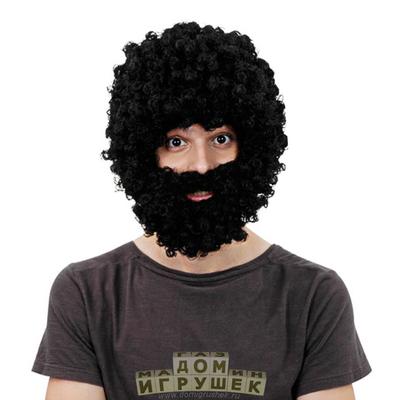 Афро парик с бородой