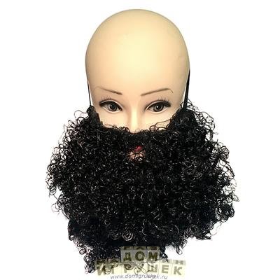 Накладная борода чёрная