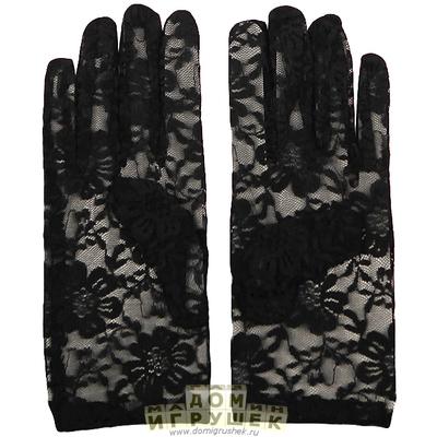 Перчатки чёрные