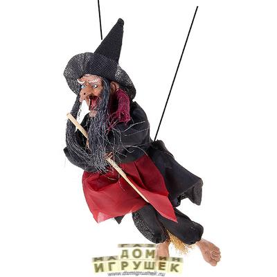Ведьма на метле 30 см.
