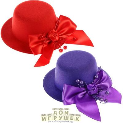 Шляпка заколка Серебряное сияние Миниатюрная шляпка заколка для волос
