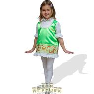 Показать друзьям.  Рост.  Яркий, красивый, костюм для девочки стилизован под русский народный костюм.