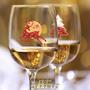 Новогодние наклейки на бокалы